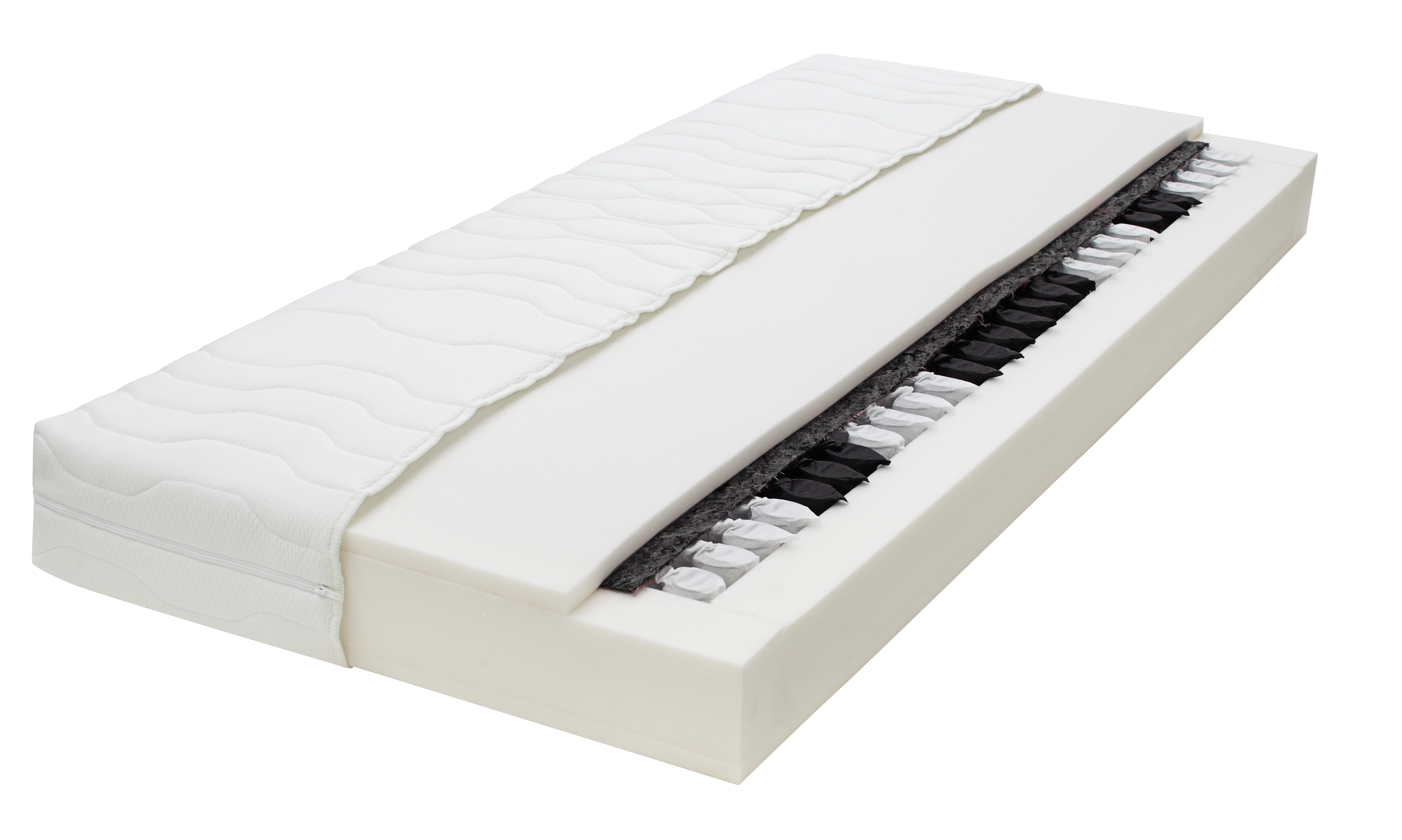 20 cm dicke top 7 zonen taschenfederkern matratze h2 90x200 cm oder 140x200 cm. Black Bedroom Furniture Sets. Home Design Ideas